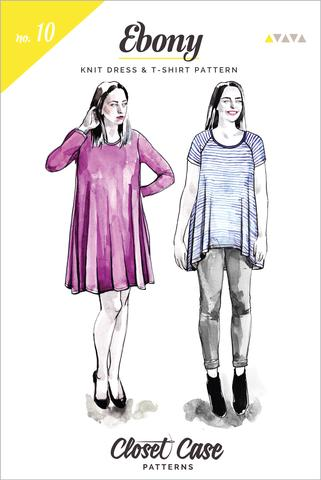 Ebony_T-shirt_and_Knit_dress_pattern_