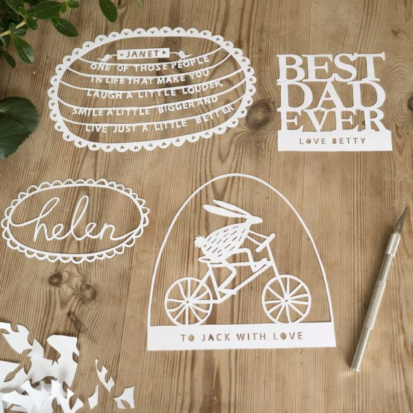 Personalised paper cutting class wokingham berkshire