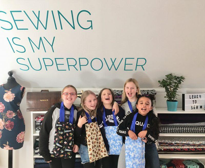 children's sewing party wokingham berkshire