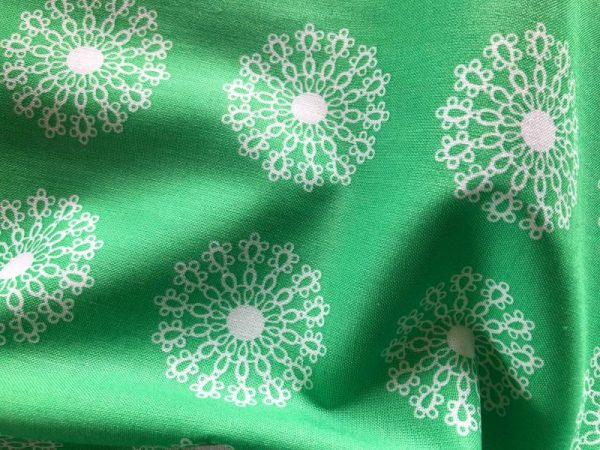 Emerald dance cotton fabric