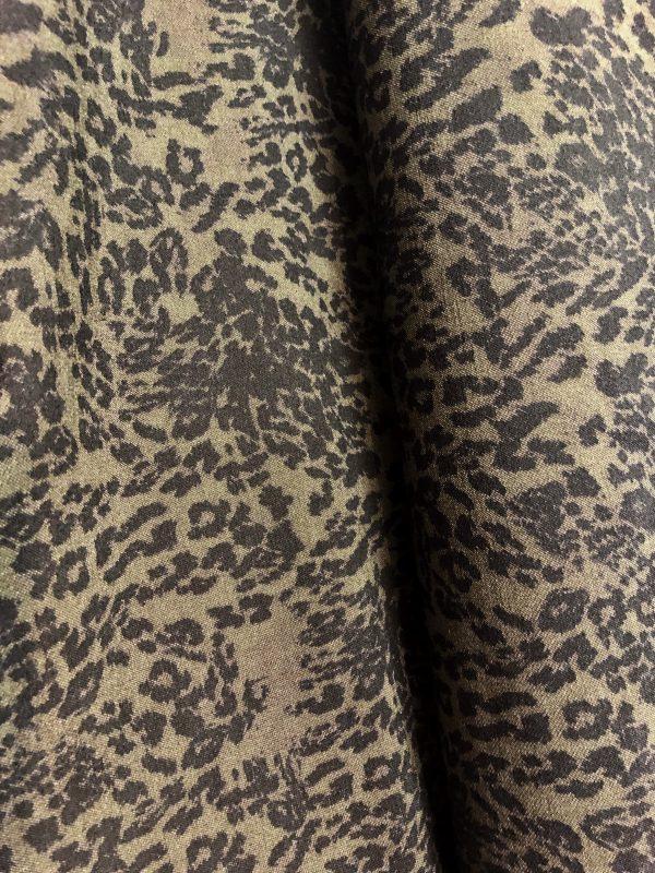 kahki stone animal stretch cotton