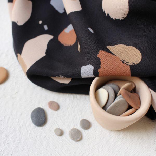 atelier brunette granito night fabric