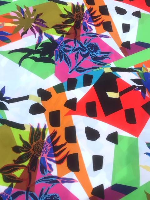 Satin dressmaking fabrics