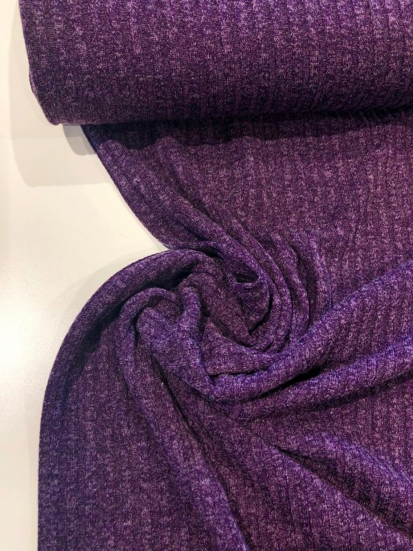 ribbed knit dressmaking fabric